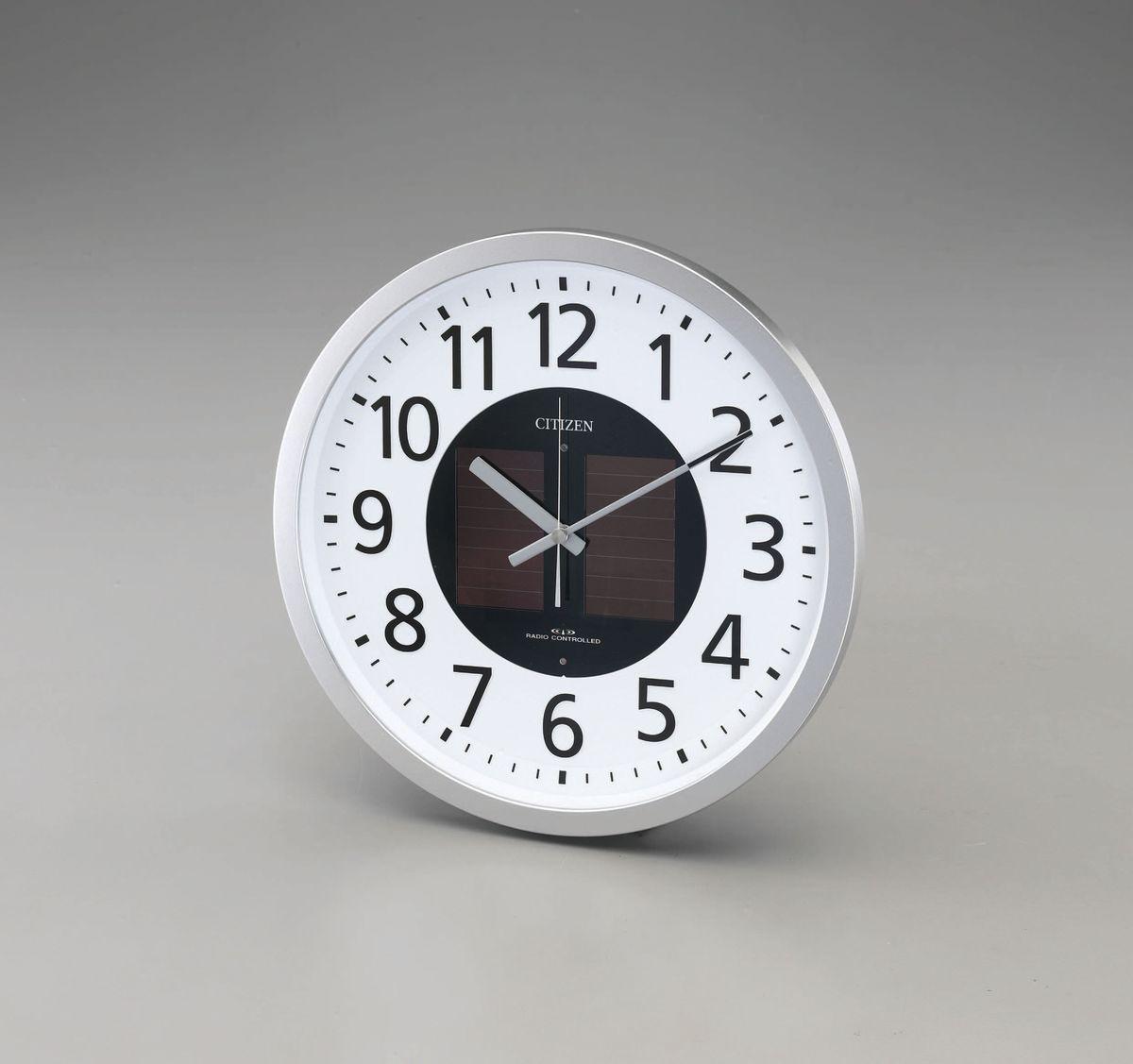 【メーカー在庫あり】 エスコ ESCO φ350mm 電波掛時計 ソーラー電源 000012240282 HD