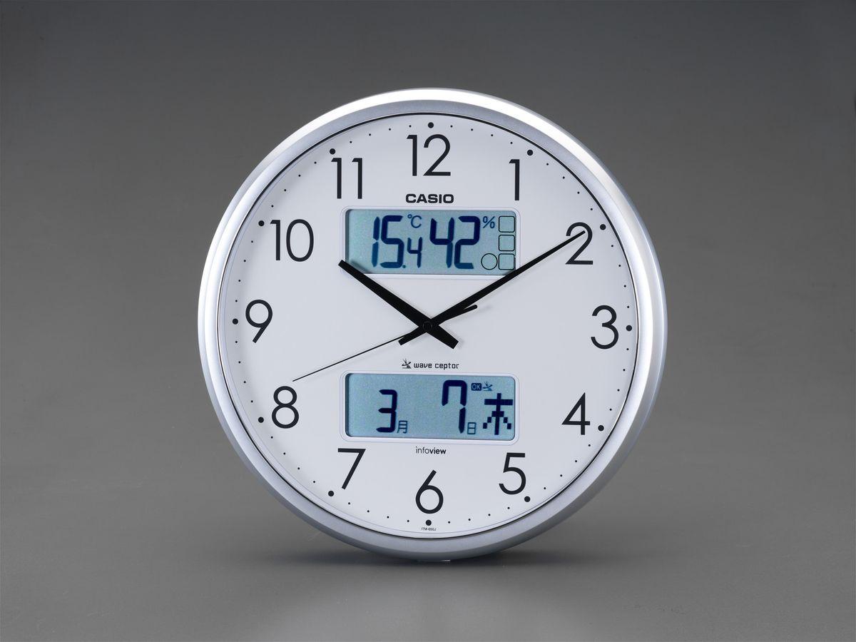 【メーカー在庫あり】 エスコ(ESCO) φ350mm 電波掛時計 000012246425 HD