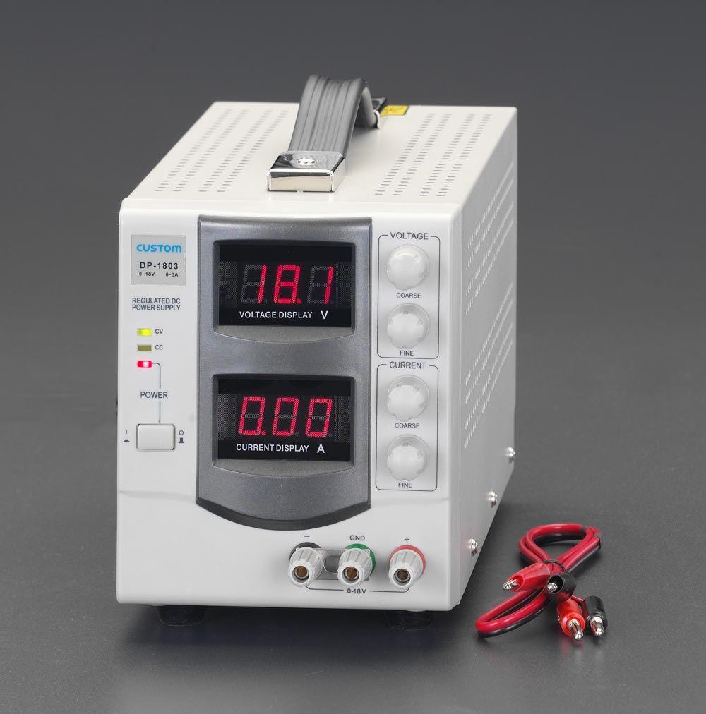 【メーカー在庫あり】 エスコ ESCO AC100V→ 0-30V/5.0A 直流安定化電源 000012080988 HD店