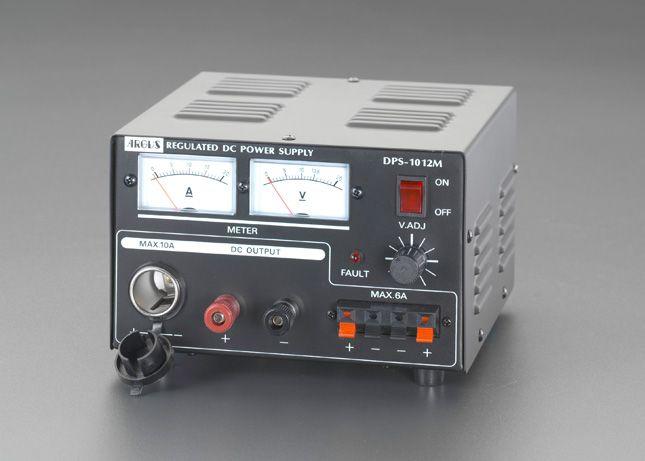 ESCO 直流安定化電源 エスコ HD店 AC100V→DC12V/10A 000012089301 【メーカー在庫あり】
