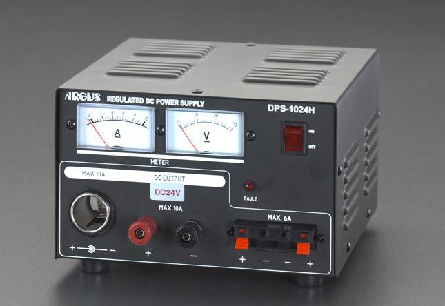 【メーカー在庫あり】 エスコ ESCO AC100V→DC24V/10A 直流安定化電源 000012089302 HD店