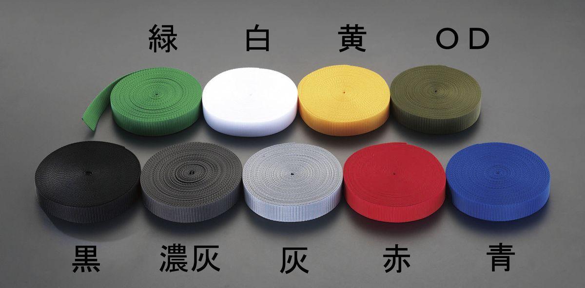 【メーカー在庫あり】 エスコ ESCO 48x1.7mmx50m テープ 平織(PP製 黒) 000012087286 HD店