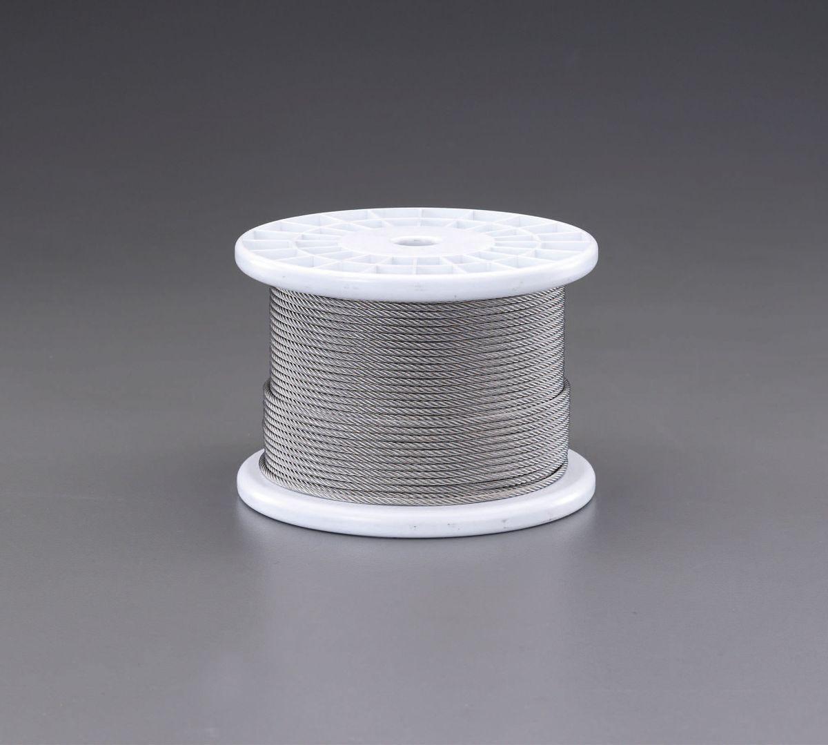 【メーカー在庫あり】 エスコ ESCO 4.0mmx100m/7x19 ワイヤーロープ(ステンレス製) 000012239052 HD店