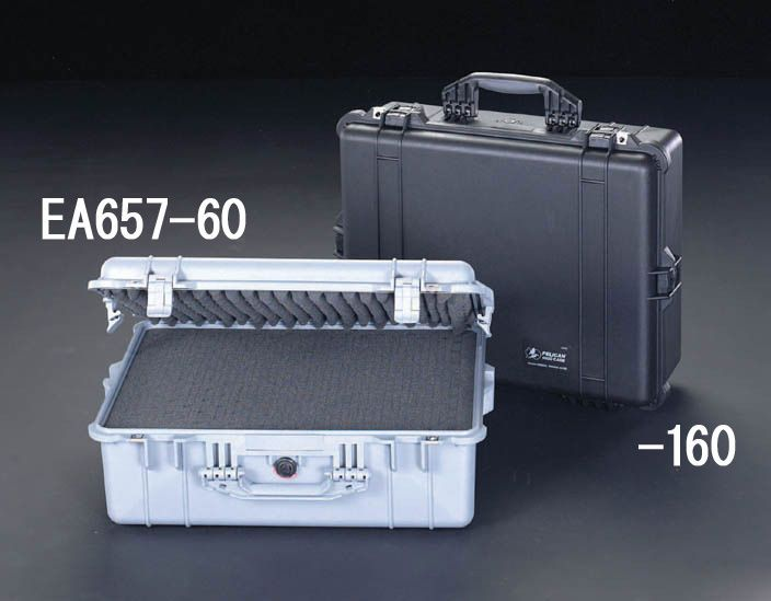 【メーカー在庫あり】 エスコ ESCO 544x419x200mm/内寸 万能防水ケース(黒) 000012015072 HD店