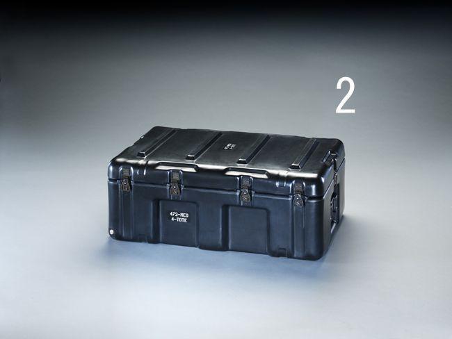 【メーカー在庫あり】 エスコ ESCO 736x457x274mm ストレージケース(トレー付/黒) 000012203911 HD店