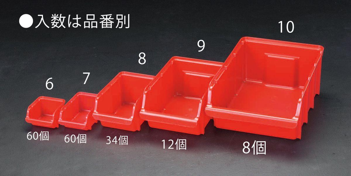 【メーカー在庫あり】 エスコ ESCO 205x333x155mm パーツトレー(重ね置型 赤/12個) 000012261672 HD店