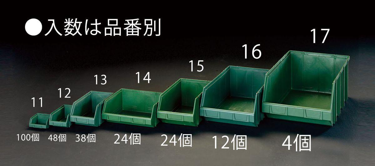 【メーカー在庫あり】 エスコ ESCO 103x 95x 53mm パーツトレー(重ね置型 緑/100個) 000012261613 HD店