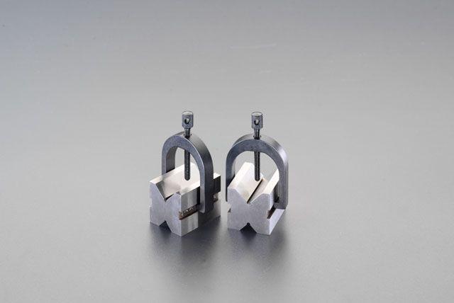 【メーカー在庫あり】 エスコ ESCO 25mm Vブロックセット(クランプ付) 000012088108 HD店