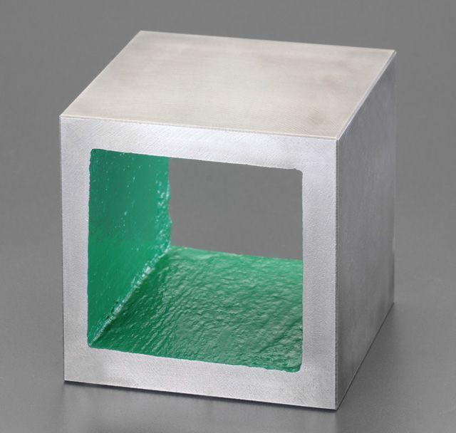 【メーカー在庫あり】 エスコ ESCO 125mm 箱型ブロック(機械仕上) 000012079828 HD店