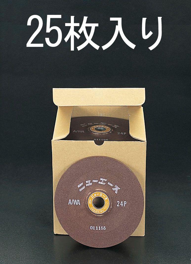【メーカー在庫あり】 エスコ ESCO 180x6mm/WA24P オフセット型砥石 25枚 000012063671 HD店