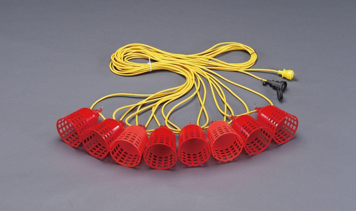 【メーカー在庫あり】 エスコ ESCO AC100V 作業灯/LED 8灯・24m 000012240596 HD店