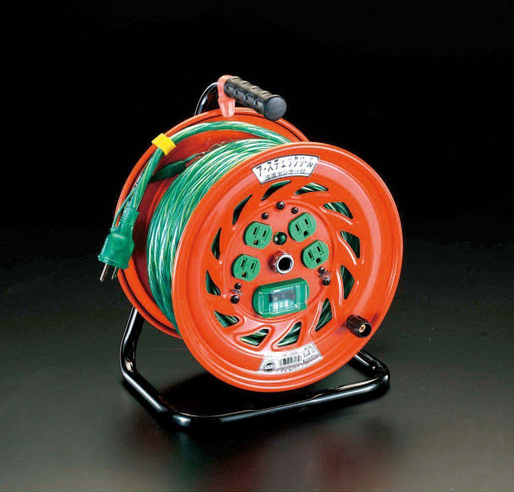 【メーカー在庫あり】 エスコ ESCO AC100V/15A/30m コードリール 漏電遮断機付 000012020039 HD店