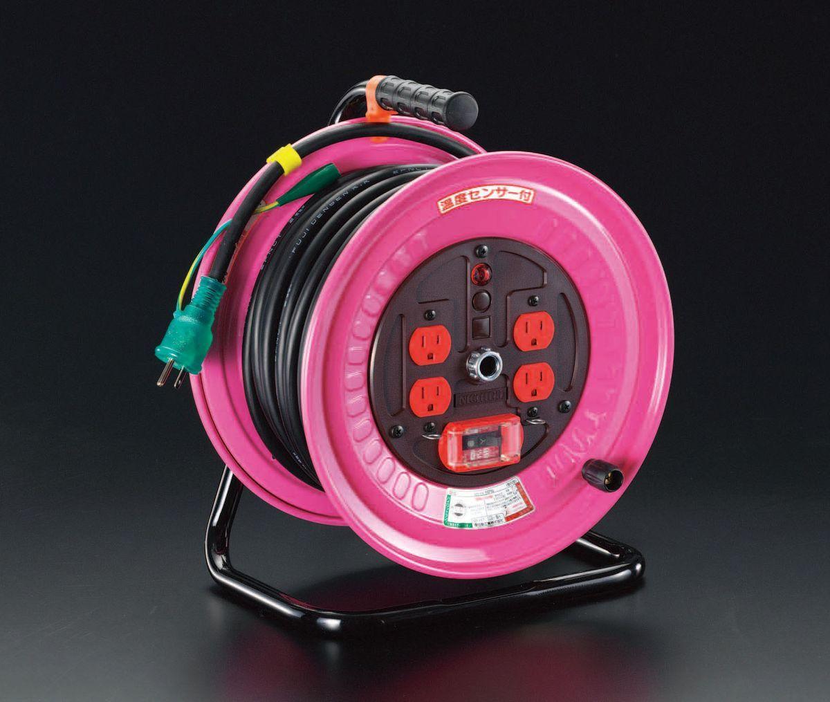 エスコ ESCO AC100V/15A/30m 電工ドラム 防災型 000012037582 HD店