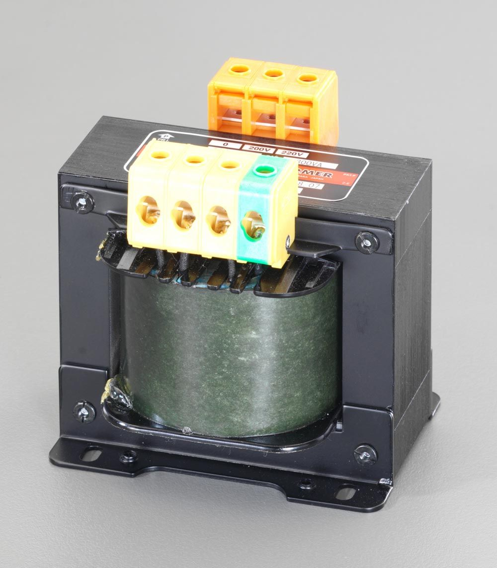 【メーカー在庫あり】 エスコ ESCO 200VA 静電シールド付電源トランス 000012049621 HD店