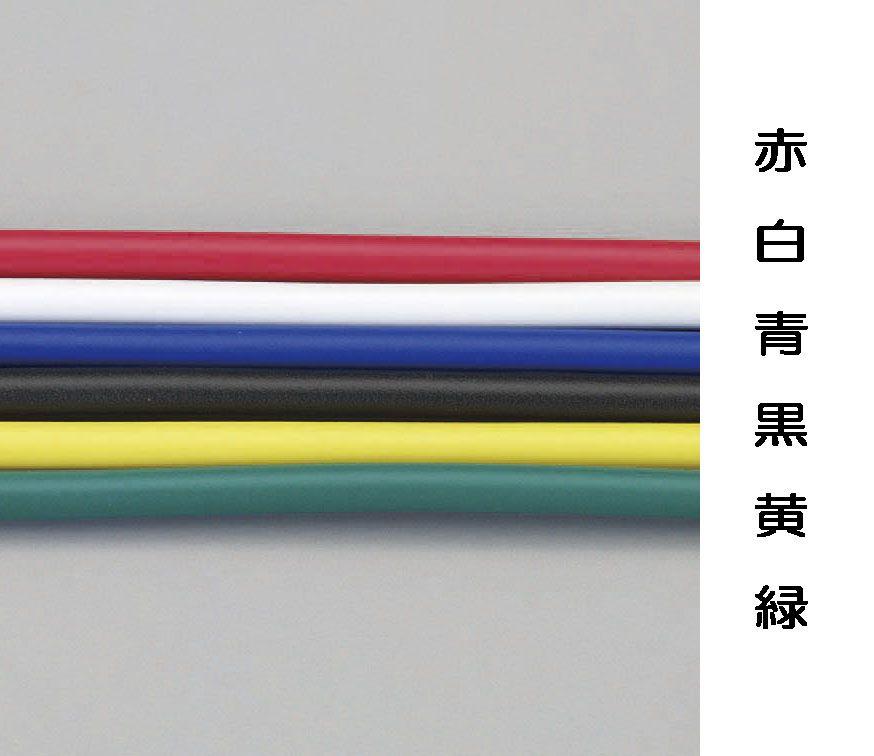 【メーカー在庫あり】 エスコ ESCO 2.0mm2x100m ビニール絶縁電線KIV 黒 000012230748 HD店
