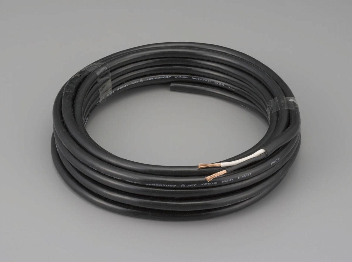 【メーカー在庫あり】 エスコ ESCO 3.5mm2x10m/2芯 2種EPゴム キャプタイヤケーブル 000012216790 HD店
