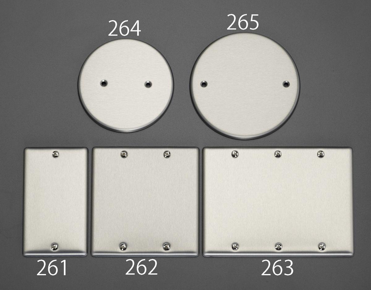 メーカー在庫あり 再再販 エスコ ESCO メタル製カバープレート 3連 HD店 百貨店 000012258060 角型