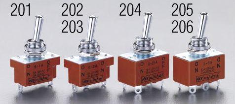 訳あり メーカー在庫あり エスコ ESCO 125V 15A 大注目 12mm トグルスイッチ 2極双投 000012201886 HD