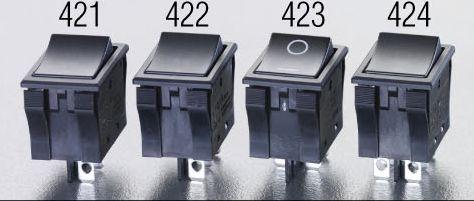 メーカー在庫あり エスコ 未使用品 在庫限り ESCO 125V 9A 2極双投 HD 000012201931 TV-8 適合 ロッカースイッチ