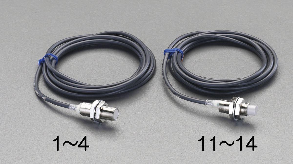 【メーカー在庫あり】 エスコ ESCO M18/直流2線 近接センサー 7mm・ シールド 000012230973 HD店
