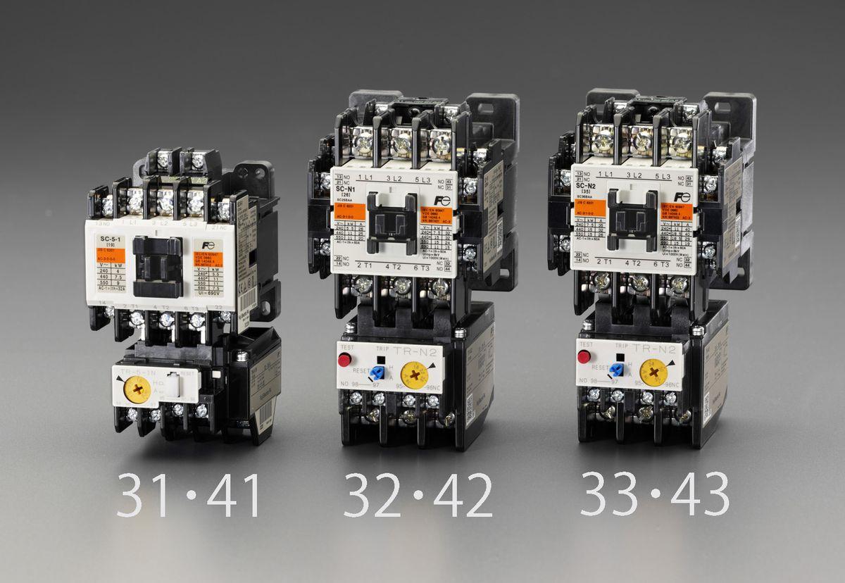 【メーカー在庫あり】 エスコ ESCO 200V/200V・7.5 kw 電磁開閉器 標準形 000012251066 HD店