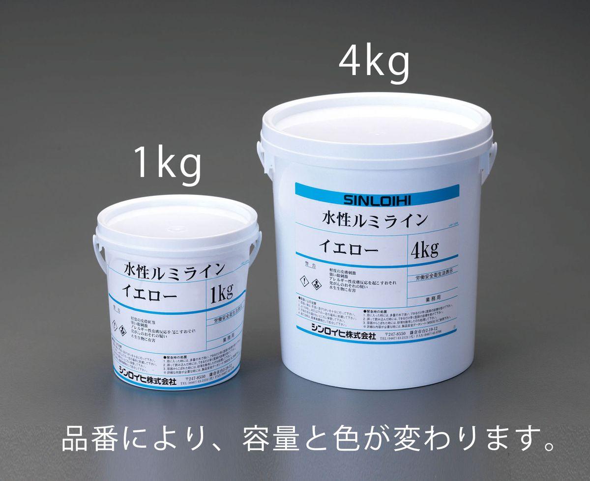 【メーカー在庫あり】 エスコ ESCO 1.0kg 水性床用蛍光塗料 イエロー 000012217218 HD店