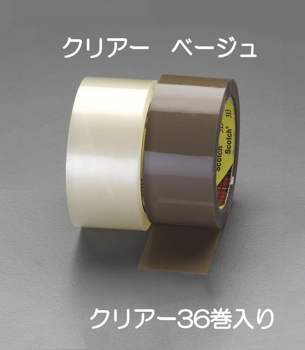 【メーカー在庫あり】 エスコ ESCO 48mmx100m OPP梱包用テープ 透明/36巻 000012242412 HD店