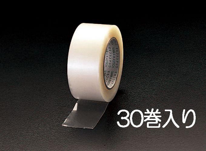 エスコ ESCO 50mmx50m 手切れ粘着テープ 透明/30巻 000012202232 HD店