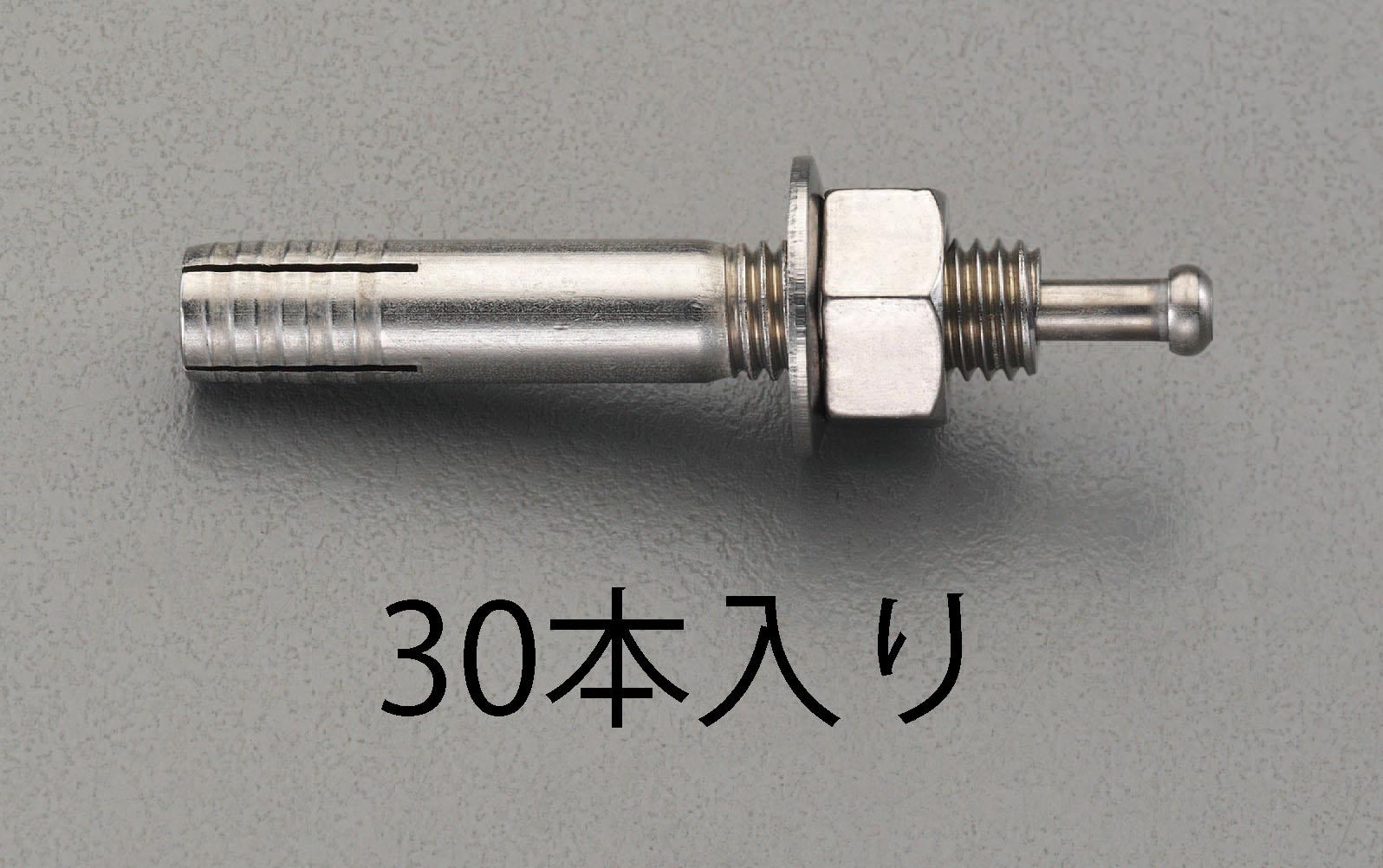 【メーカー在庫あり】 エスコ ESCO M12x100mm オスねじアンカー ステンレス製/30本 000012259644 HD店