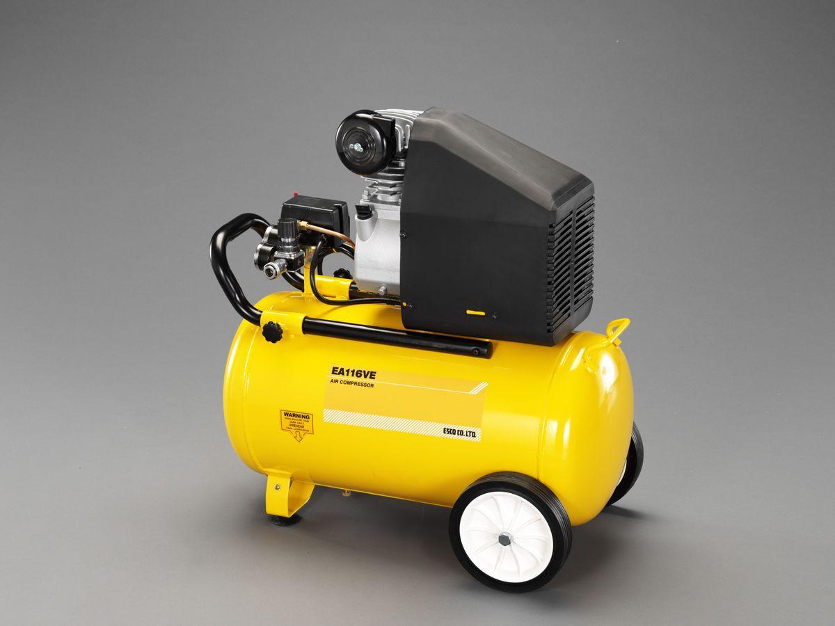 【メーカー在庫あり】 エスコ(ESCO) AC100V エアーコンプレッサー(タンク 38L) 000012247104 HD
