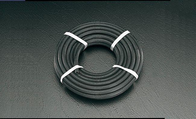 【メーカー在庫あり】 エスコ(ESCO) 25/36.5mmx10m エアーホース(黒/ゴム製) 000012045351 HD