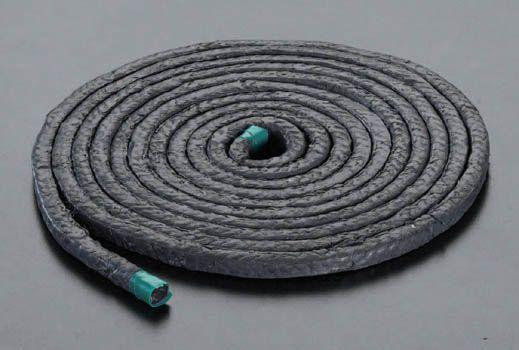 【メーカー在庫あり】 エスコ(ESCO) 11.1mmx3m テフロン含浸炭化繊維パッキン 000012045594 HD