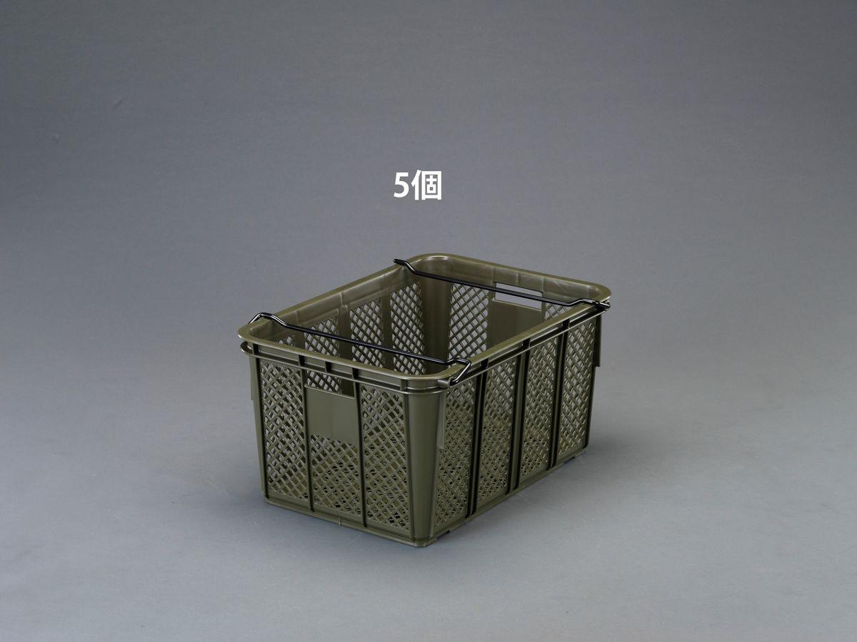 【メーカー在庫あり】 エスコ ESCO 664x468x333mm/ 75.2L コンテナ(OD/5個) 000012248118 HD