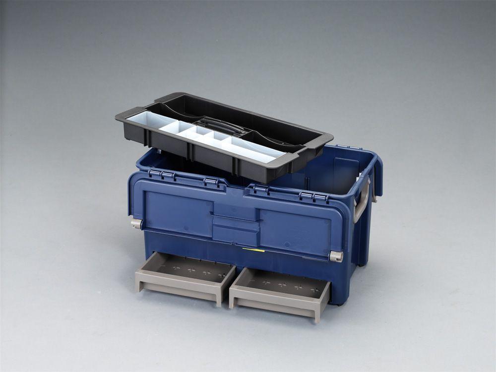【メーカー在庫あり】 エスコ ESCO 540x300x295mm 工具箱(中皿 引出し付) 000012030404 HD
