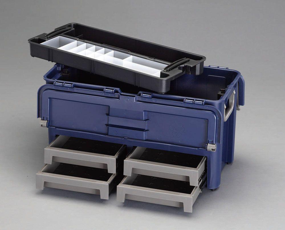 【メーカー在庫あり】 エスコ ESCO 620x315x320mm 工具箱(中皿 引出し付) 000012030406 HD