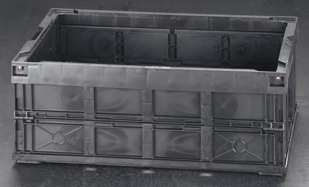 【メーカー在庫あり】 エスコ ESCO 650x440x249mm/54.9L ハイテク折畳コンテナ 000012071994 HD