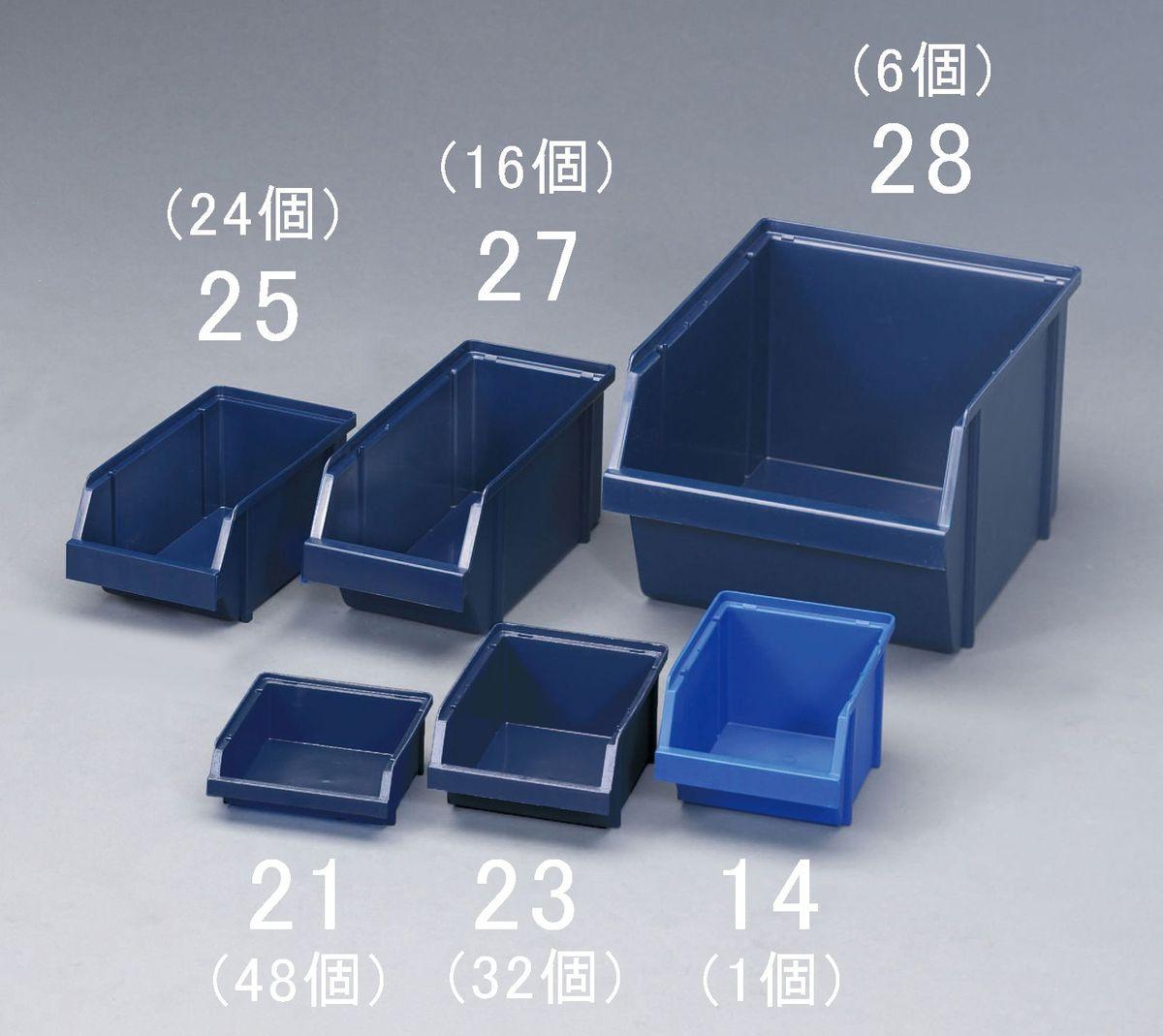 【メーカー在庫あり】 エスコ ESCO 125x133x 50mm パーツトレー(重ね置型 青/48個) 000012261658 HD店