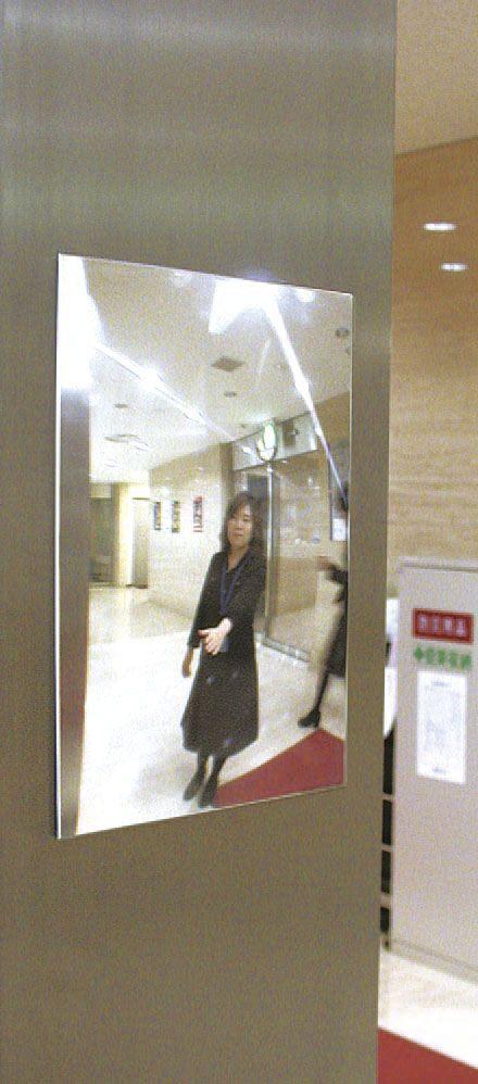 【メーカー在庫あり】 エスコ ESCO 145x205x2.5mmエレベーター用安全ミラー(0-10度) 000012210913 HD店