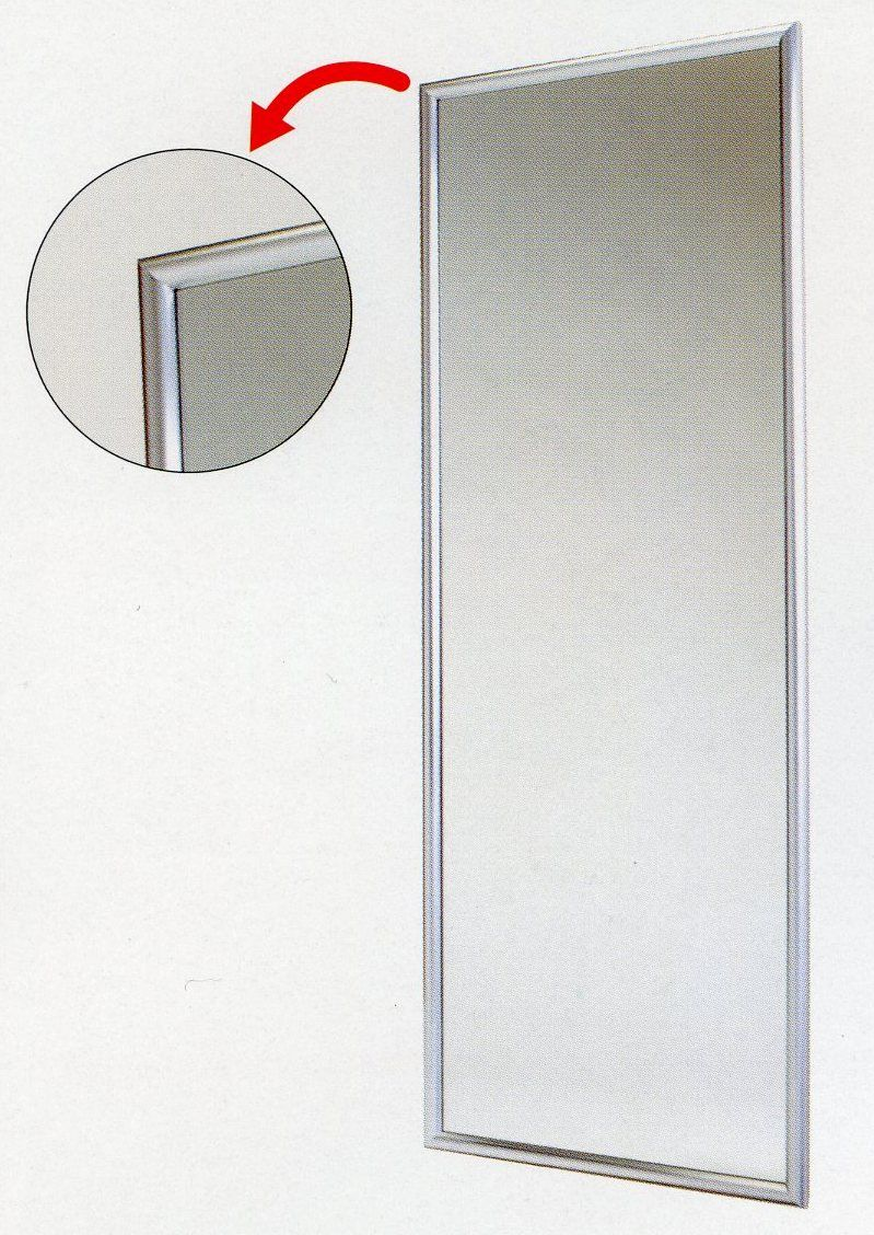 【メーカー在庫あり】 エスコ ESCO 1200x570mm 平面ミラー 000012239505 HD店