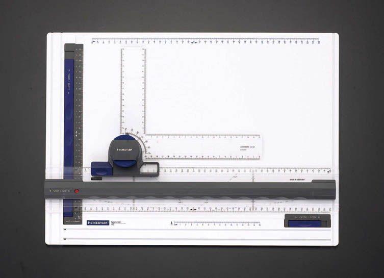 【メーカー在庫あり】 エスコ ESCO A3サイズ L型定規付製図板 000012083890 HD