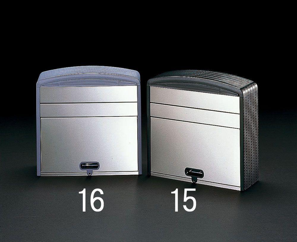 【メーカー在庫あり】 エスコ ESCO 360x350x153mm ポスト ステンレス製/グレ- 000012055607 HD店