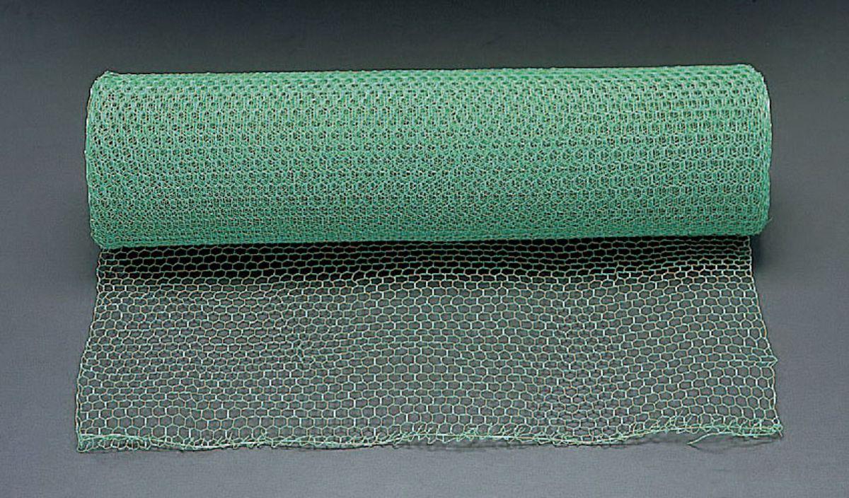 【メーカー在庫あり】 エスコ ESCO 0.91x15m/10mm目 亀甲網 鉄ビニール被覆製 000012244085 HD店