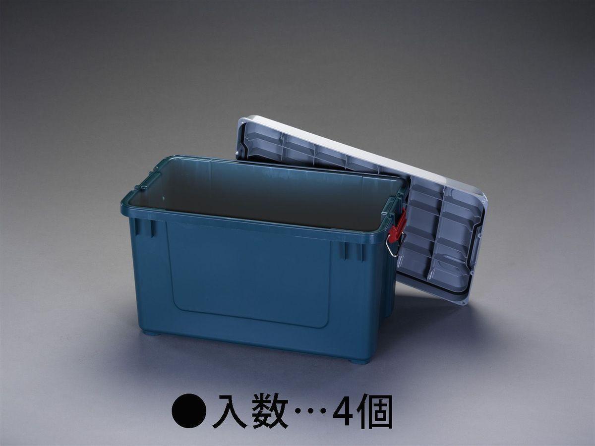 【メーカー在庫あり】 エスコ ESCO 702x370x389mm 車載ケース 樹脂製/4個 000012259731 HD店