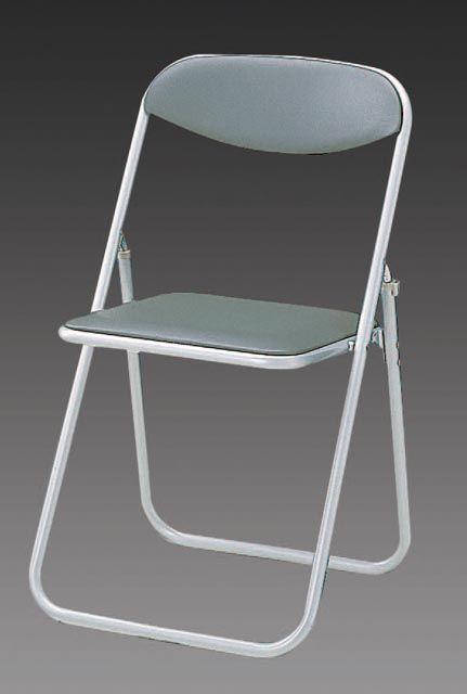 【メーカー在庫あり】 エスコ ESCO 折畳み椅子 グレー 000012076022 HD店