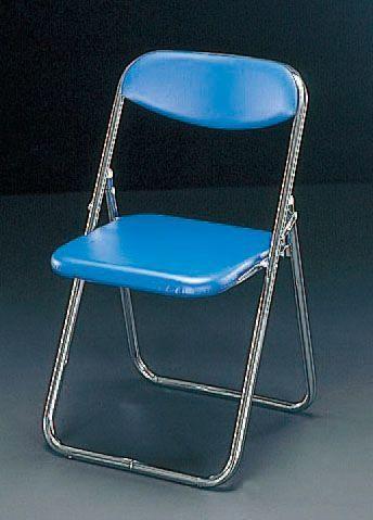 【メーカー在庫あり】 エスコ ESCO 折畳み椅子 ブルー 000012042176 HD店