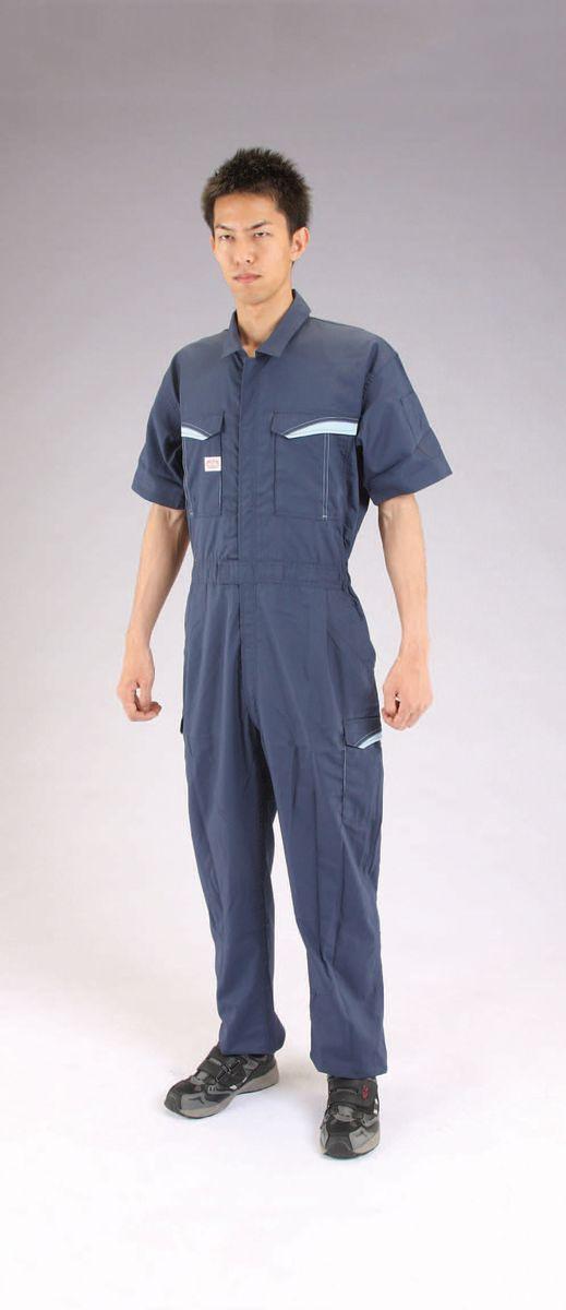 【メーカー在庫あり】 エスコ ESCO 3L 防臭・消臭・抗菌 継ぎ作業服 ネイビー 000012233642 HD店