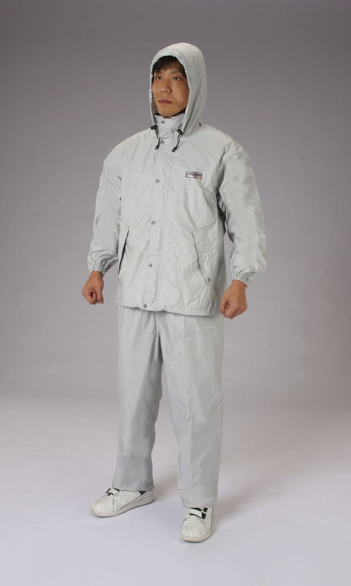 【メーカー在庫あり】 エスコ ESCO M レインウェアー 透湿型/灰色 000012235116 HD店