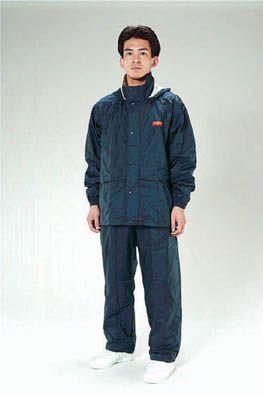 【メーカー在庫あり】 エスコ ESCO L 透湿型レインウェアー ネイビー 000012010337 HD店