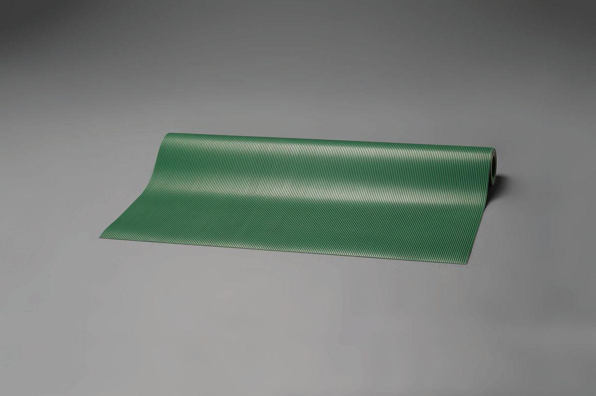 【メーカー在庫あり】 エスコ ESCO 1.0x2.0m/3.0mm ゴムマット 筋入・緑 000012043898 HD店
