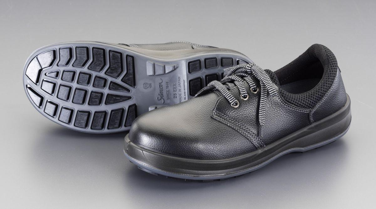【メーカー在庫あり】 エスコ ESCO 24.5cm 安全靴 牛革 000012266881 HD店